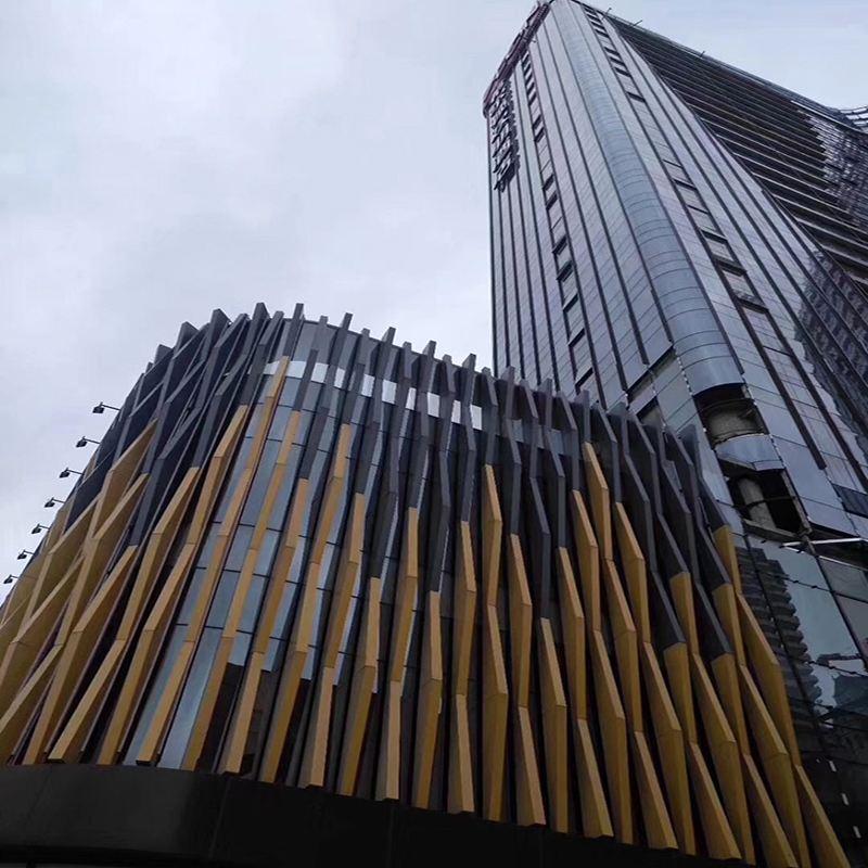 铝方通造型建筑