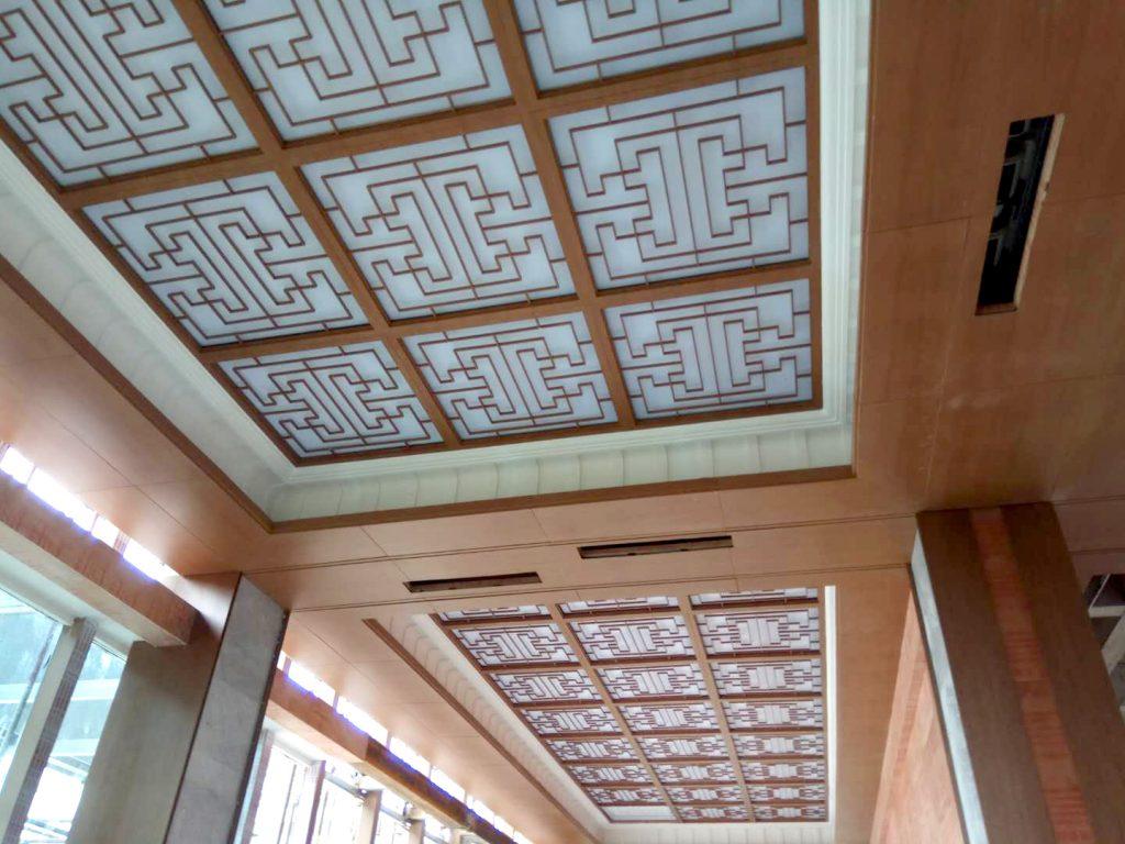 铝蜂窝板实例—眉山市彭山国际售楼部装饰