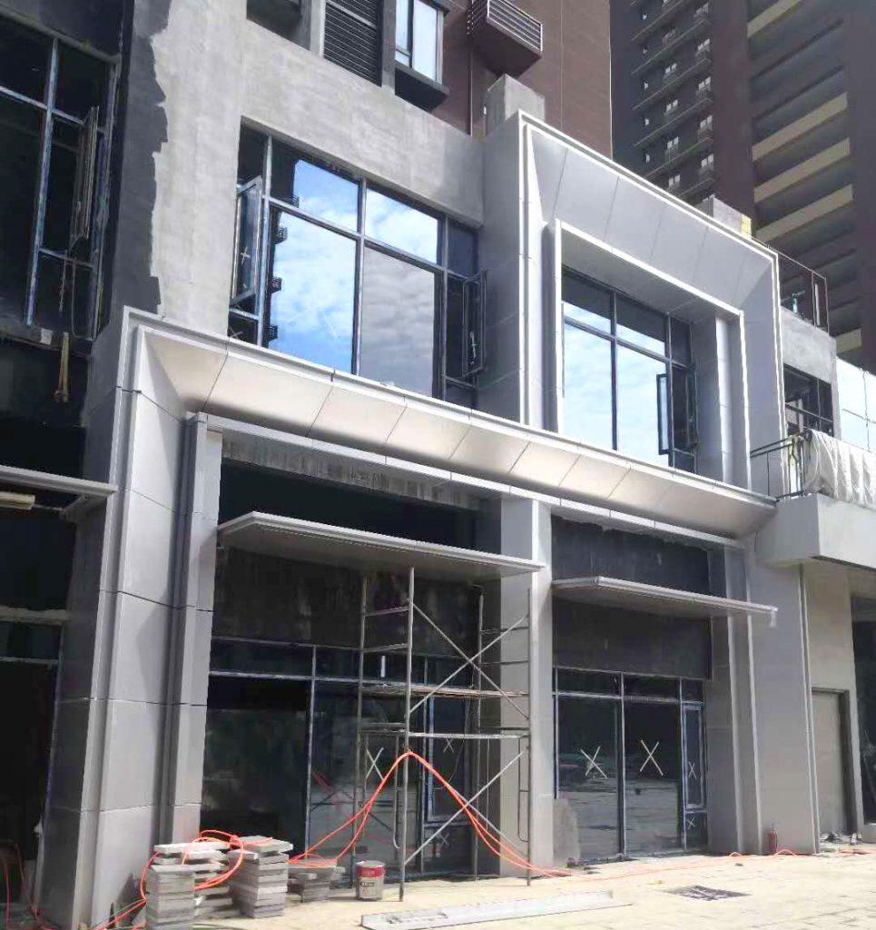 西安万科售楼部氟碳铝单板装饰