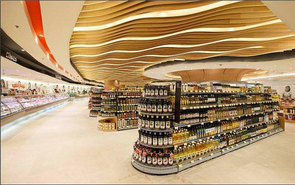铝方通天花板的多种造型